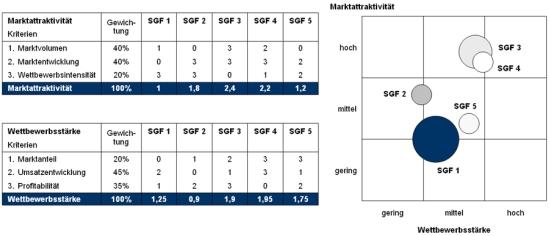 Portfolio-Methodik zur Identifikation von Wachstumspotenzialen