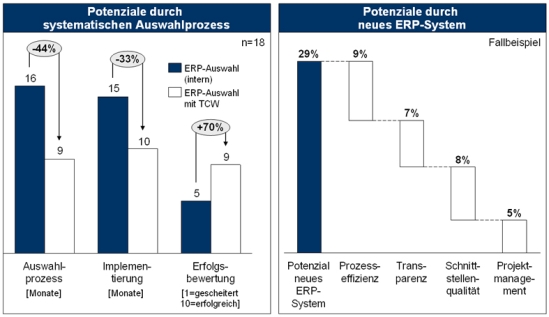 Potenziale durch die Optimierung der ERP-Auswahl