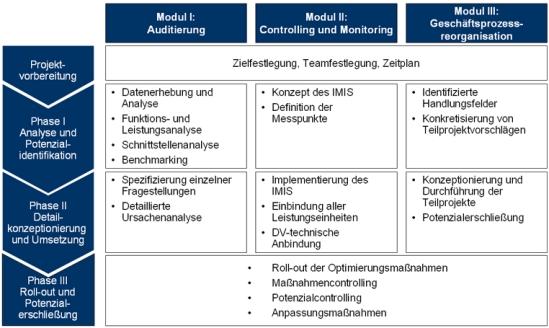 Vorgehensweise zur Implementierung eines Integrierten Managementinformationssystems
