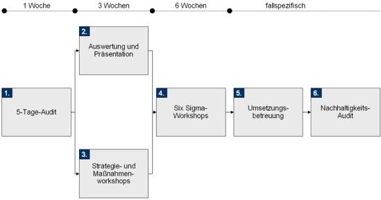 Vorgehensweise zur Einführung von Design for Six Sigma