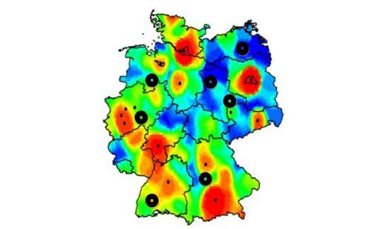 Heat-Map Quellen, Senken Analyse