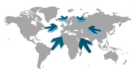 Abbildung 1: Regionalisierung der Supply Chains