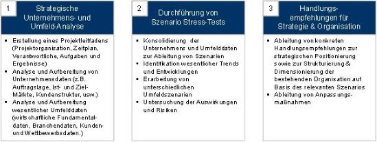 Vorgehensweise zum Stresstest von Strategie und Organisation