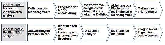 Vorgehensweise zur wachstums- und profitabilitätsorientierten Anpassung der Vertriebsstrategie
