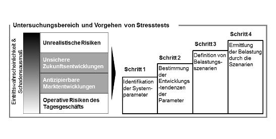 'Untersuchungsbereich und Vorgehen von Stresstests
